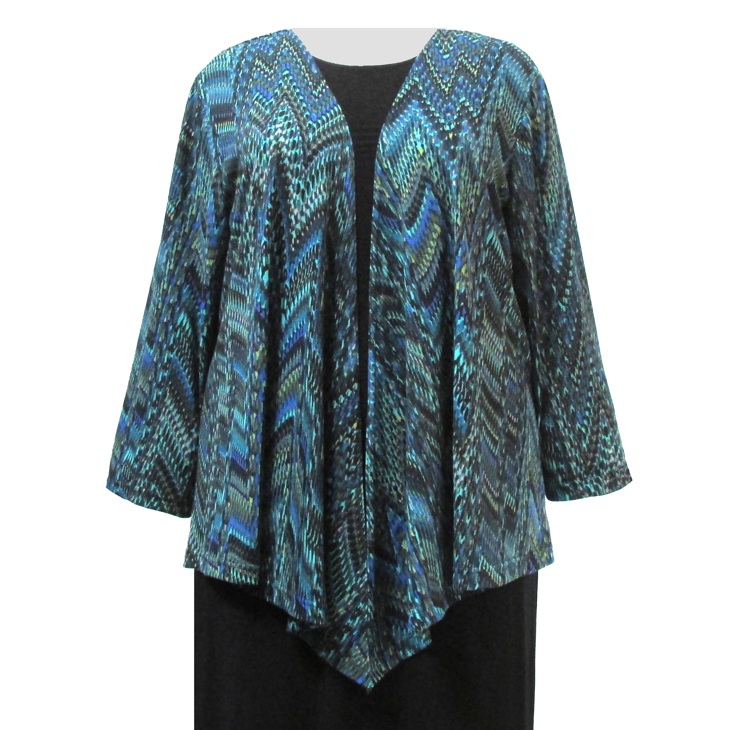 A Personal Touch Green Rain Forest Drape Cardigan Sweater Woman's Plus Size Cardigan