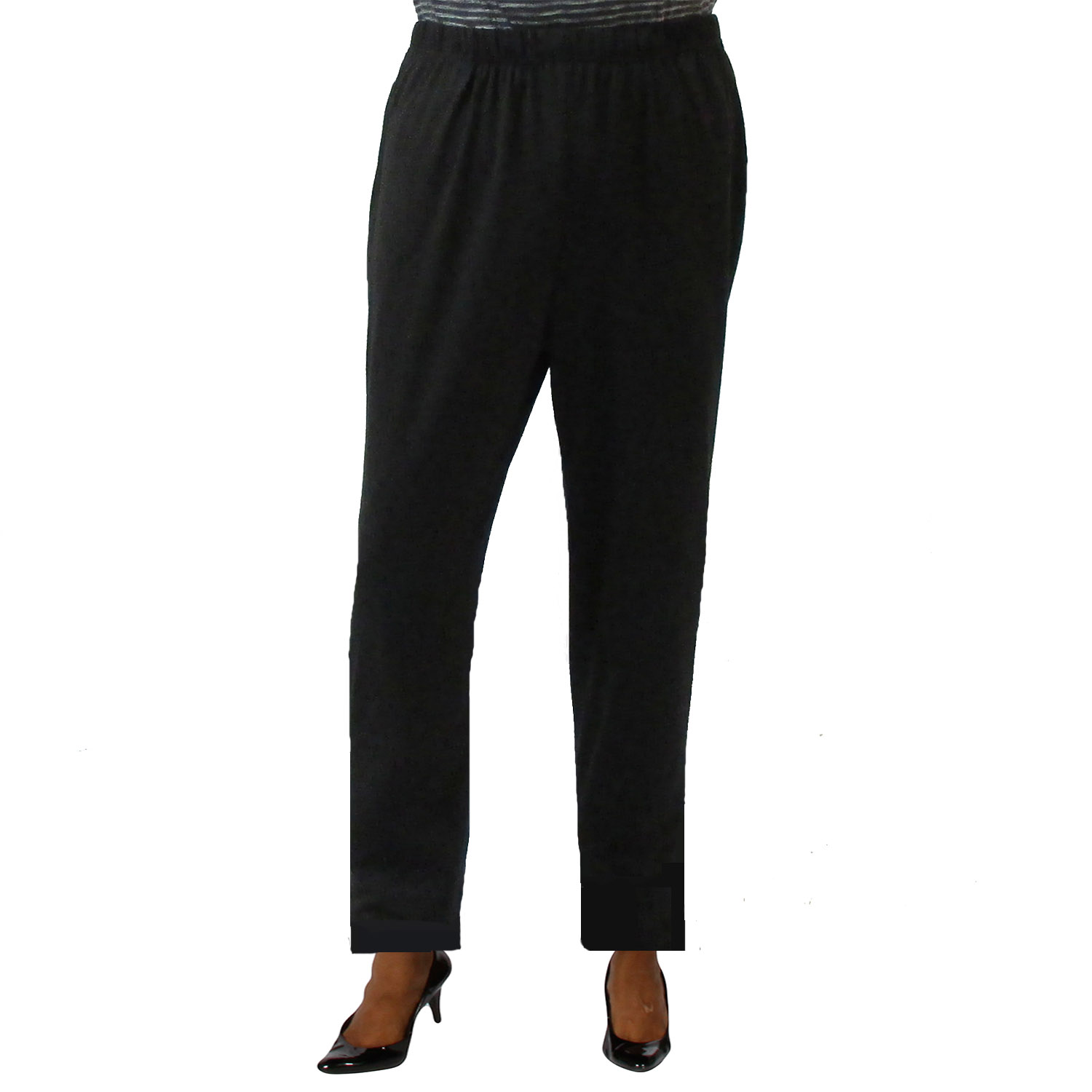 A Personal Touch Black Knit Pull-On Pant Plus Size Pull-On Pant